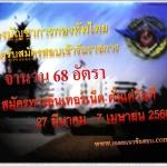 กองบัญชาการกองทัพไทย เปิดรับสมัครสอบเข้ารับราชการ จำนวน 68 อัตรา