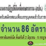 สำนักงานการปฏิรูปที่ดินเพื่อเกษตรกรรมเปิดสมัครสอบเข้ารับราชการ 86 อัตรา