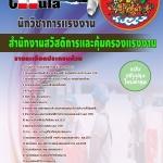หนังสือเตรียมสอบ คุ่มือสอบ แนวข้อสอบนักวิชาการแรงงาน สำนักงานสวัสดิการและคุ้มครองแรงงาน
