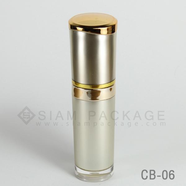 ขวดอะคริลิค ฝาคาดทอง รหัส CB-06 - บรรจุภัณฑ์ เครื่องสำอางทุก